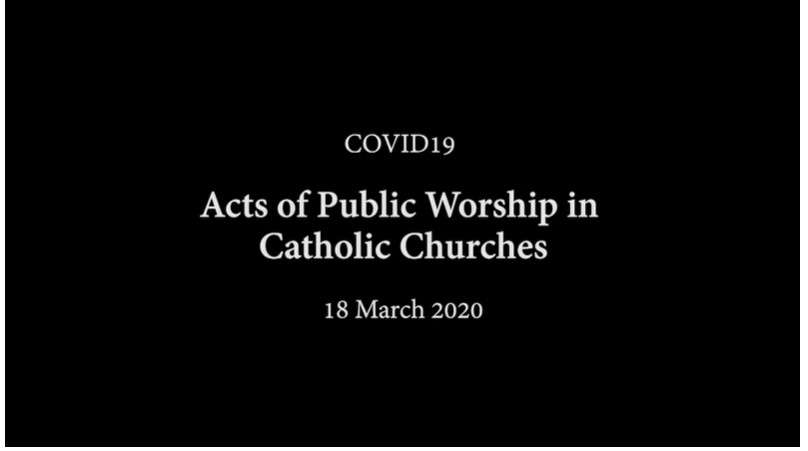 Acts of Public Worship in Catholic churches