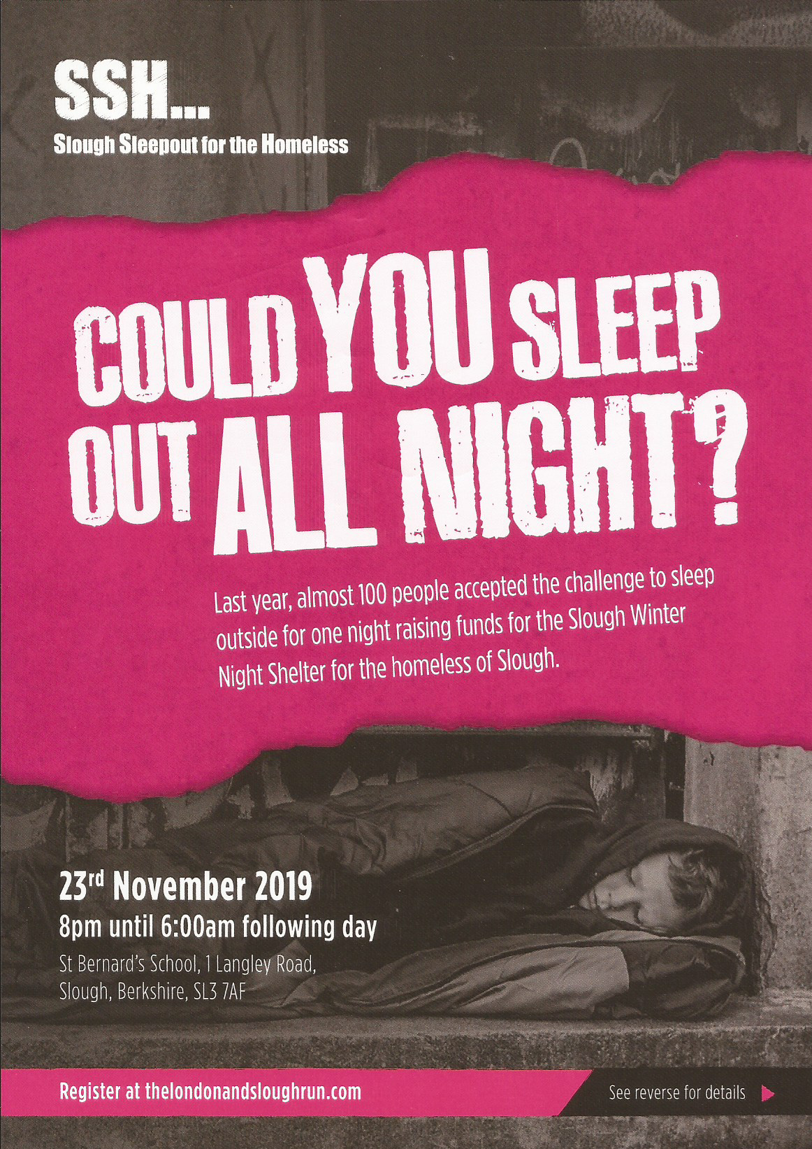 Slough Sleepout for the Homeless page 1