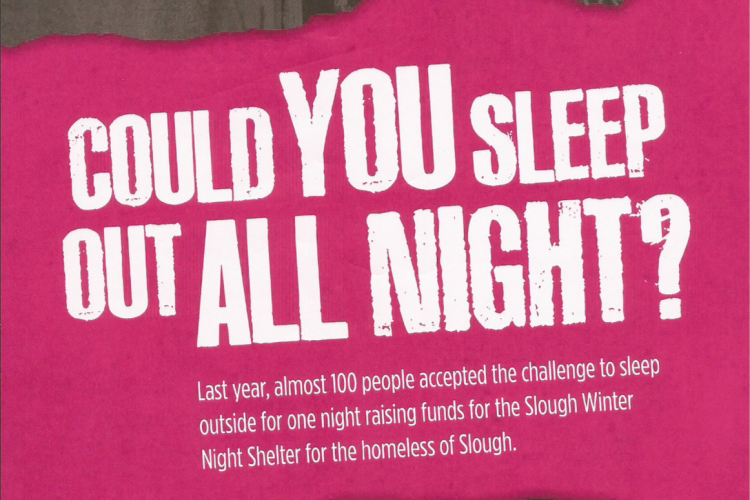 Slough Sleepout for the Homeless